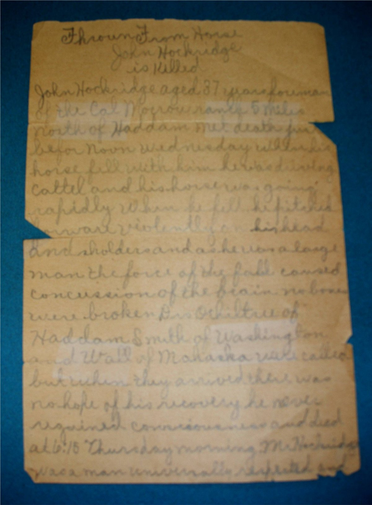 Copy of Letter Purchased on Ebay